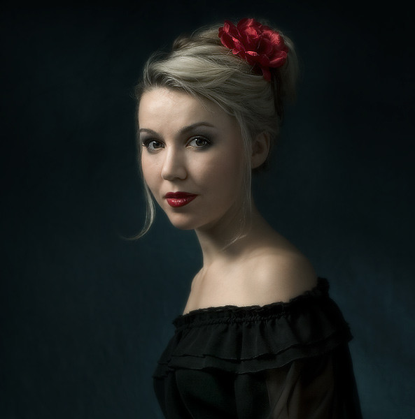Portrait of a Girl with a Rose